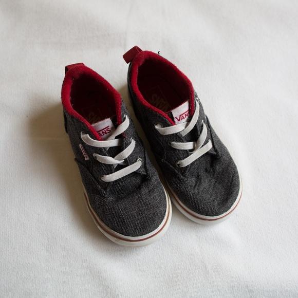 Vans Other - Vans Gray & Red Skater Shoes Toddler Size 8